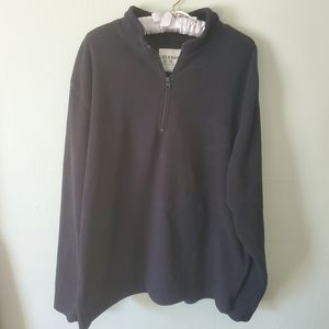 Old Navy Black Fleece 1/4 Zip Sweater